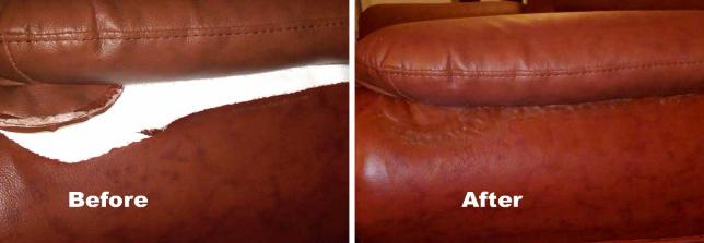 leather rip tear repair - Leather Sofa Repair