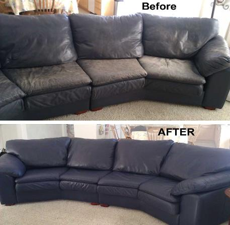Beautiful Restore Faded, Grimmy Leather Sofa ...