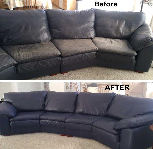 Restore Leather Sofa Fading Faded Color