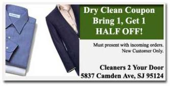 Dry Clean Coupons San Jose