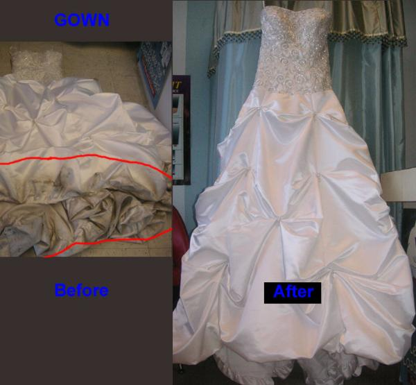 Bridal gowns cleaning before afterWedding Gown Preservation  Gown Cleaner San Jose   Cleaners To  . Dry Cleaner Wedding Dress. Home Design Ideas
