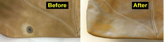 How to clean ink on leather bag