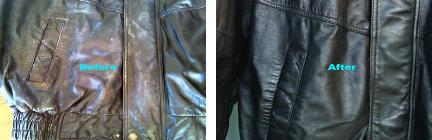 dye fading stained leather jackets
