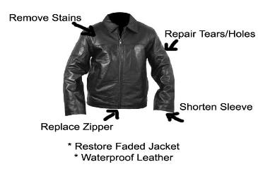 How to fix zipper on leather jacket