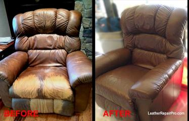 how to dye recolor faded bleached leather - Leather Sofa Repair