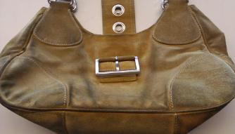 clean and restore color on suede bag