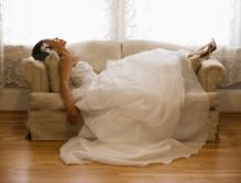 Tired Bride after Wedding