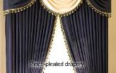clean pleated drapes